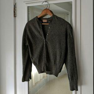 Sweaters - Vintage Dark Gray Kingsley Lambswool Blend Sweater